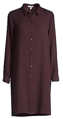 Eileen Fisher Women's Organic Cotton Button-Down Tunic