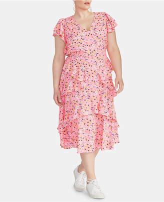 Rachel Roy Plus Size Ruffled Floral-Print Dress