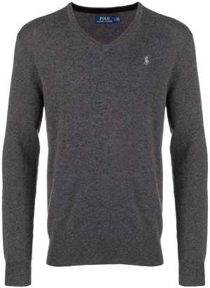 Polo Ralph Lauren logo embroidered v-neck jumper