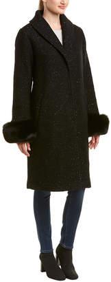 Elie Tahari Grace Wool-Blend Coat
