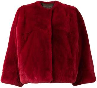 Yves Salomon Rex rabbit fur jacket