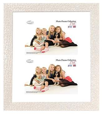 Inov-8 Inov8 12 x 10 Mosaic Single Dual-Aperture British Made Picture Frame for Two 7 x 5-Inch Photos, Cream, 9 x 12 x 16 cm