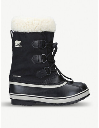 Sorel Panelled leather and shell snow boots