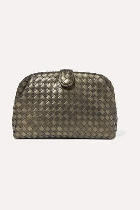 98ae90a87cdd Bottega Veneta Lauren 1980 Metallic Intrecciato Leather Clutch - Gold
