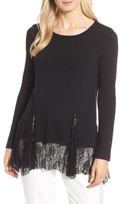 Karen Kane Lace Inset Sweater