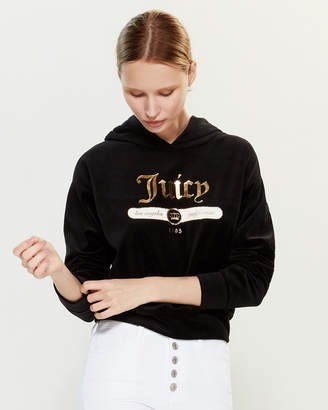 Juicy Couture Emblem Velour Hoodie