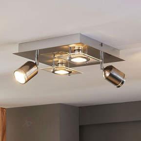 Quadratische LED-Deckenleuchte Fjolla, dimmbar