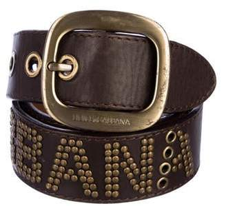 Dolce & Gabbana Embellished Leather Waist Belt