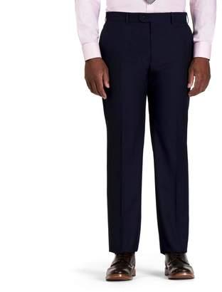 Centaur Big & Tall CENTAUR Blue Semi Plain Trousers
