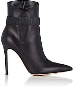Gianvito Rossi Women's Strap-Detailed Leather Ankle Boots-Black