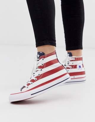 Converse Chuck Taylor All Star Hi American Flag Trainers