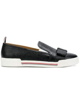 Thom Browne Leather Bow Pebble Grain Slip-on