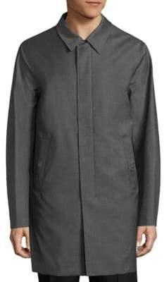 Pal Zileri Solid Cotton Knit Coat