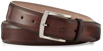 Magnanni Square-Buckle Calf Leather Belt