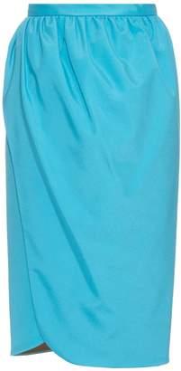 Emilio De La Morena Saima stretch-silk wrap skirt