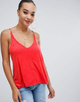 Missguided Suedette Cami Top