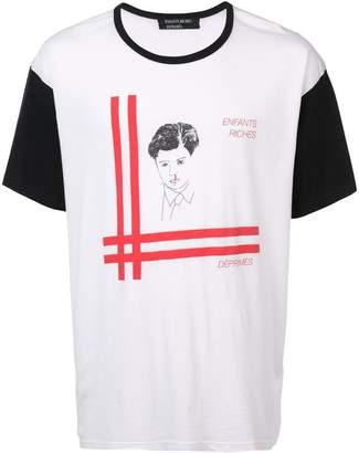Enfants Riches Deprimes Baron print contrast sleeve T-shirt