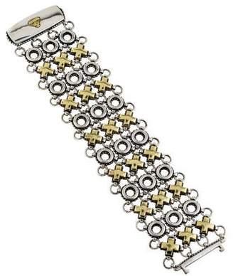 Lagos Two-Tone XO Link Bracelet