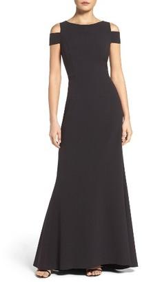 Women's Vince Camuto Cold Shoulder Gown $188 thestylecure.com