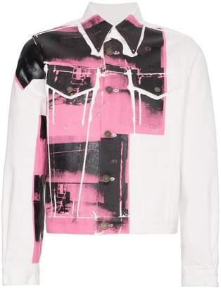 Calvin Klein x Andy Warhol Foundation Little Electric Chair denim jacket