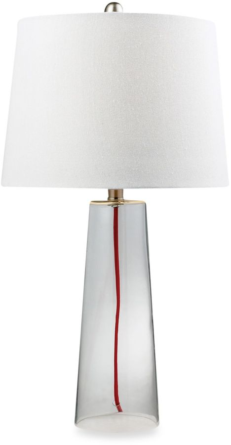 Bed Bath & Beyond Light Glass Table Lamp with Red Cord