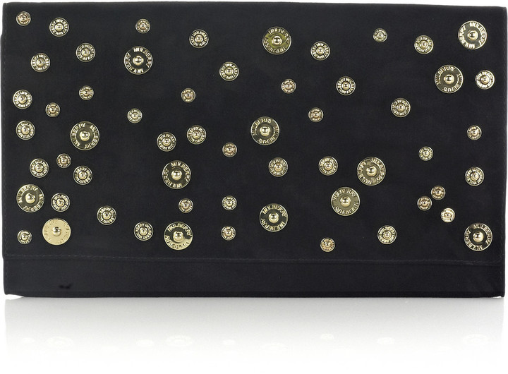Mulberry Oversized Ava suede clutch