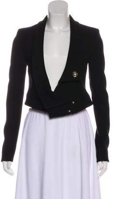 Anthony Vaccarello Structured Cropped Blazer