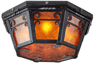 Rejuvenation Massive Wrought Iron Romance Revival Ceiling Fixture w/ Mica
