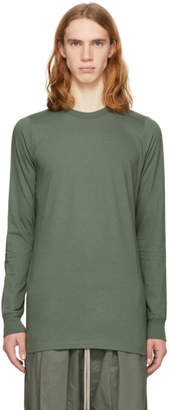 Rick Owens Green Long Sleeve Level T-Shirt