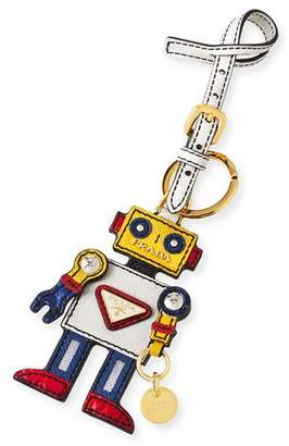 Prada Boy Robot Mirror Charm, White/Yellow (Talco/Mimosa)