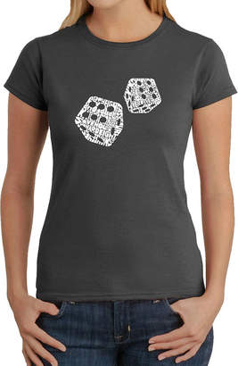 LOS ANGELES POP ART Los Angeles Pop Art Different Rolls Thrown In The Game Of Craps Graphic T-Shirt