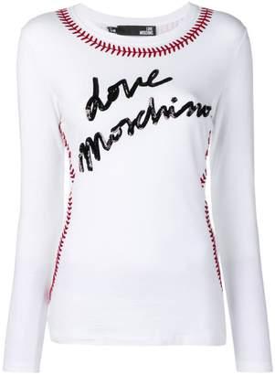 Love Moschino baseball seam T-shirt