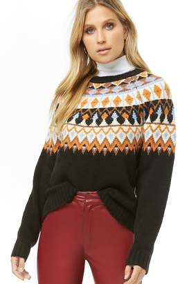 Forever 21 Fair Isle Brushed Knit Sweater