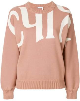 Chloé logo intarsia jumper