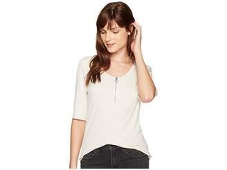 Calvin Klein Jeans Rib Top w/ O-Ring Detail Women's Clothing