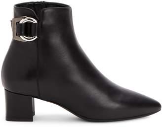 Aquatalia Piper Point-Toe Leather Booties