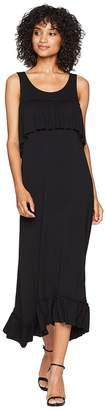 Kensie Viscose Jersey Ruffle Maxi Dress KS6K8226 Women's Dress