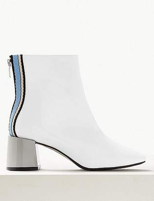Marks and Spencer Wide Fit Patent Ankle Boots