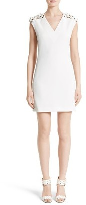 Women's Versace Spike Shoulder Sheath Dress $1,050 thestylecure.com