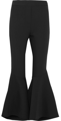 Sinuous Crepe Flared Pants - Black