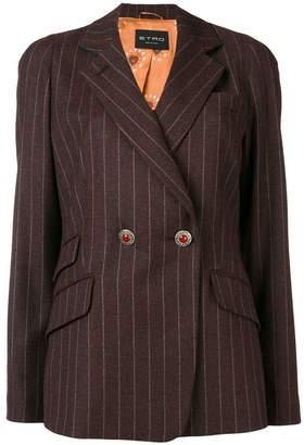 Etro striped fitted blazer