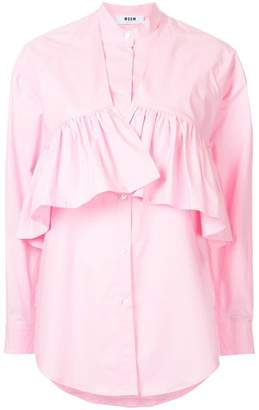 MSGM ruffle layer shirt