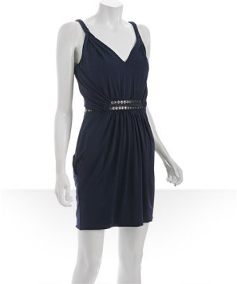 Laundry by Shelli Segal ink blot jersey studded bubble hem dress