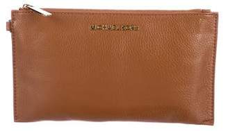 MICHAEL Michael Kors Grained Leather Zip Pouch