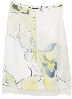 MANGO Flowers organza skirt