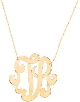 Jennifer Zeuner Jewelry Emily Large Swirly Initial V Pendant Necklace
