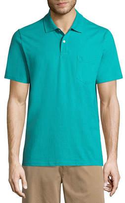 ST. JOHN'S BAY Short Sleeve Jersey Polo Shirt