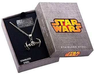 "Star Wars Stainless Steel TIE Fighter Pendant with 18"" Chain"