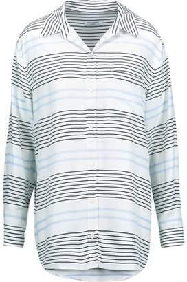 Equipment Daddy Striped Washed-Silk Shirt