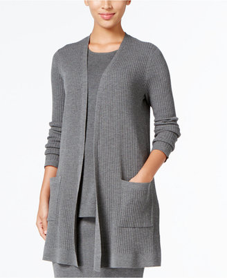 Eileen Fisher Ribbed Open-Front Cardigan $338 thestylecure.com